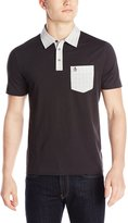 Original Penguin Men's Woven Collar Polo, Phantom