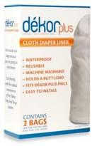 Diaper Dekor Regal Lager Dekor Plus 2-Pack Cloth Diaper Pail Liner