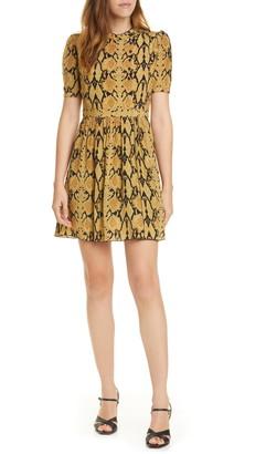 BA&SH Cascade Snake Print Dress