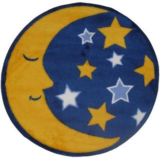 "Fun Rugs Moon & Stars 31"" Round Rug"