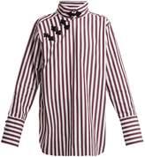 Marques Almeida MARQUES'ALMEIDA Striped Mandarin-collar cotton shirt