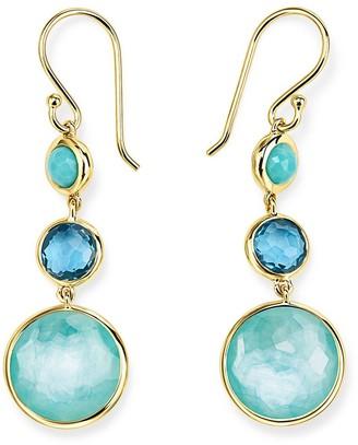 Ippolita 18kt yellow gold Lollipop Lollitini 3 stone drop earrings