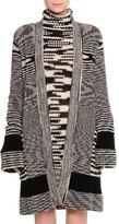 Missoni Long Knit Open-Front Cashmere Cardigan, Spacedye