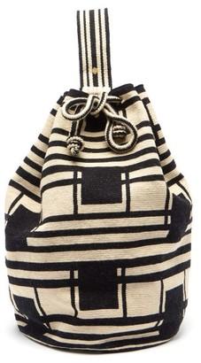 Guanabana - Tula Arish Stripe-woven Bucket Bag - Black Multi