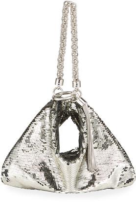 Jimmy Choo Callie Metallic Sequin Cocktail Clutch Bag