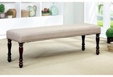 Laurèl Madill Cottage-Style Upholstered Bench Foundry Modern Farmhouse