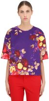 Antonio Marras Rose Printed Neoprene Top