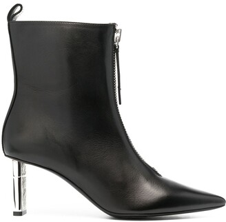 Diesel Front Zip 100mm Leather Boots