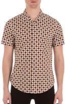 Ben Sherman Mod-Fit Optical Printed Cotton Shirt