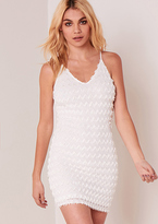 Missy Empire Clara White Strappy Tassel Bodycon Dress