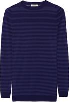 Nina Ricci Striped wool and silk-blend sweater