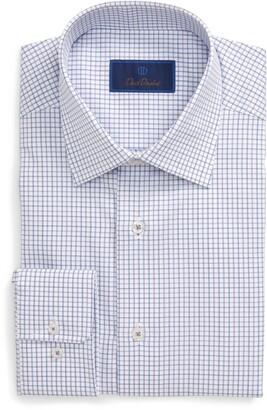 David Donahue Tattersall Grid Regular Fit Dress Shirt