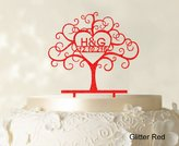 """Printtoo Custom Wedding Cake Toppers Personalized First And Last Name Initial Cake Topper Color Option Available 6""""-7"""" Inches Wide"""