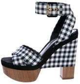 Louis Vuitton Gingham Platform Sandals