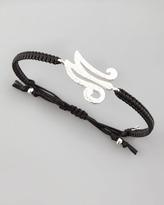 Tai Hammered Initial Bracelet, M