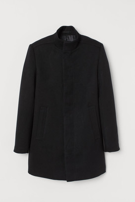 H&M Coat with a stand-up collar