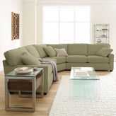 JCPenney Fabric Possibilities Sharkfin-Arm 3-pc. Loveseat Sectional