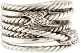 David Yurman Double X Diamond Crossover Ring