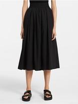 Calvin Klein Platinum Fine Stretch Poplin Skirt