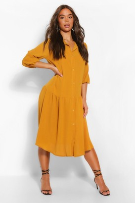 boohoo Drop Hem Shirt Dress