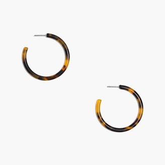 J.Crew Tortoise hoop earrings