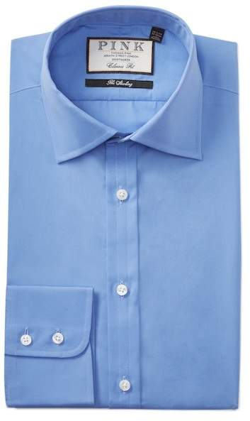 Thomas Pink Frederick Poplin Classic Fit Dress Shirt