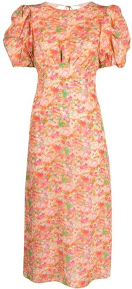 Andamane Puff-Sleeve Dress