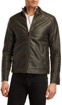indigo star Faux Leather Moto Jacket