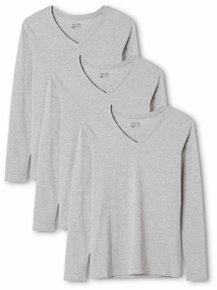 Berydale Women's Long Sleeve Shirt with V-Neck 3-pack in Various Colours