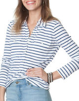 Chaps Petite Striped Jersey Polo Shirt