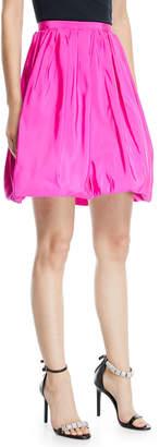 Calvin Klein High-Waist Silk Faille Bubble Skirt