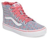 Vans Girl's Sk8-Hi Zip Heart Sneaker