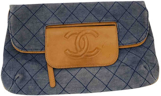 Chanel Blue Denim - Jeans Clutch bags
