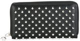 Alexander McQueen studded skull charm wallet - women - Leather/Metal (Other) - One Size