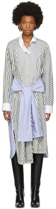 Loewe Tricolor Striped Shirt Dress