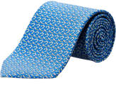 Salvatore Ferragamo Aqua Golf Clubs Silk Tie