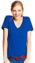 Hanes Women's V-Neck Short-Sleeve Pocket T-Shirt Women's Tops