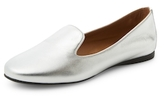 French Sole Moonstone Calf Hair Loafers