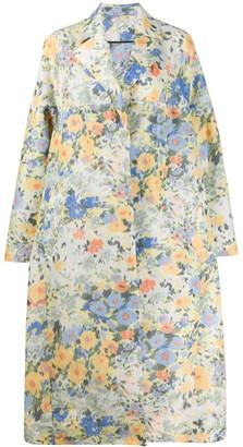 Nina Ricci Boxy Fit Floral Print Coat