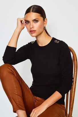 Karen Millen Trim Detail Knitted Jumper
