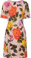 Dolce & Gabbana Floral-print Cady Dress - Pastel pink