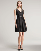 Kate Spade Dabney Beaded V-Neck Dress
