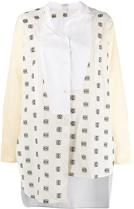Loewe asymmetric logo print shirt