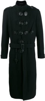 Yohji Yamamoto Button Detail Military Coat