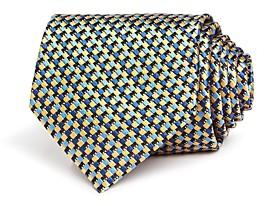 Ermenegildo Zegna Interlocking Square Silk Classic Tie