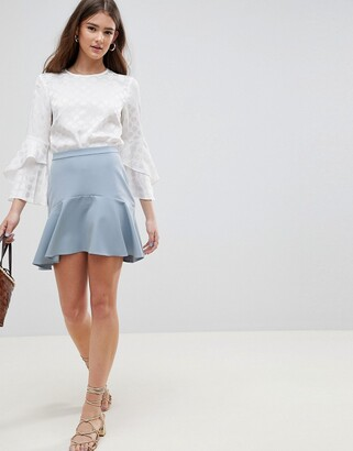 Asos Design DESIGN tailored fit and flare mini skirt