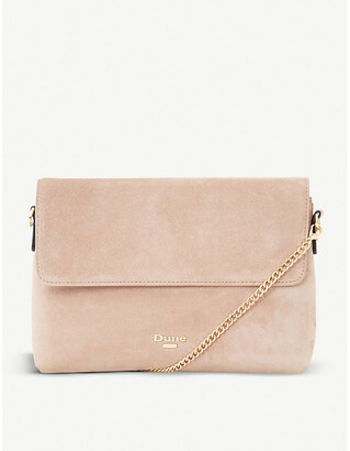 Dune Beliza suede clutch bag