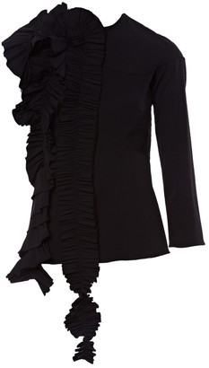 Awake Black Wool Top for Women