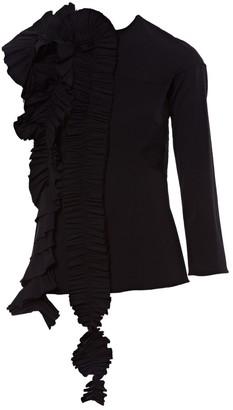 Awake Black Wool Tops