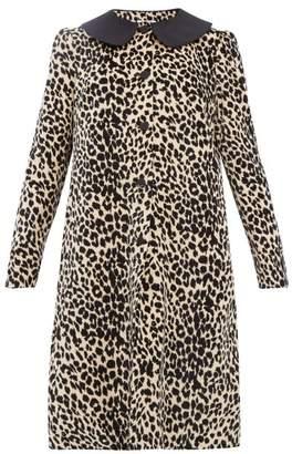 Batsheva Leopard Print Cotton Velvet Swing Coat - Womens - Leopard